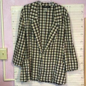 SAG HARBOR women's 1 button blazer  sz 24W  plaid